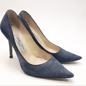 Jimmy Choo Abel Pump in Denim (Broken Heel)